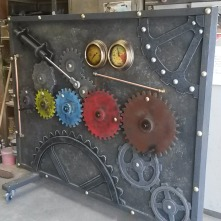 This is a gear wall made for The Manchester Museum of Science and Industry for their educational events.